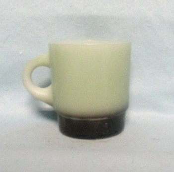 Fireking Lt. Gray w Black Base Stackable Mug - Product Image