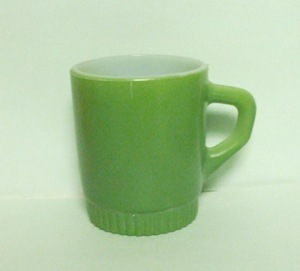 Fireking Olive Green Stackable Mug w Ribbed Base - Product Image