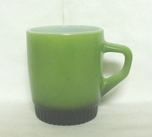 Fireking Olive Green w Black Ribbed Base Stackable Mug - Product Image