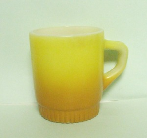 Fireking TuTone Gold Stackable Mug w Ribbed Base - Product Image
