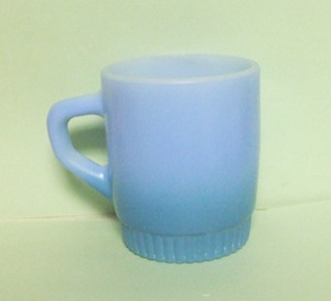 Fireking TuTone Green Stackable Mug w Ribbed Base - Product Image