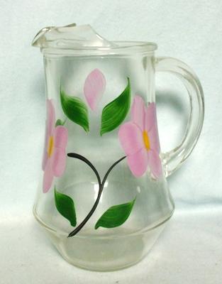 Gay Fad/Bartlette Collins Lavender Flowered w Leaves Juice Pitcher - Product Image