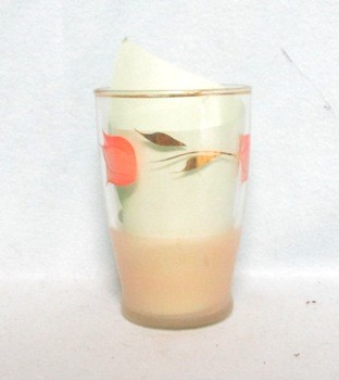 "Gay Fad Light Red Tulip 3 3/4"" Juice Glass - Product Image"