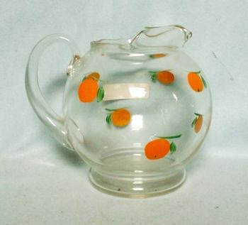 "Gay Fad/Macbeth-Evans Corning Oranges 5 1/2""Juice Pitcher - Product Image"