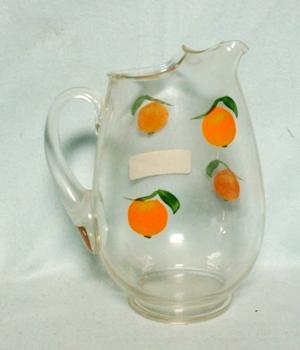 "Gay Fad/Macbeth-Evans Corning Oranges 6 3/4""Juice Pitcher - Product Image"