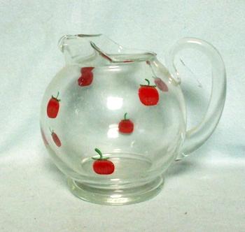 "Gay Fad/Macbeth-Evans Corning Tomato 5 1/2""Juice Pitcher - Product Image"