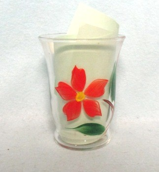 "Gay Fad Red Poinsettia 3 3/4"" Juice Glass - Product Image"