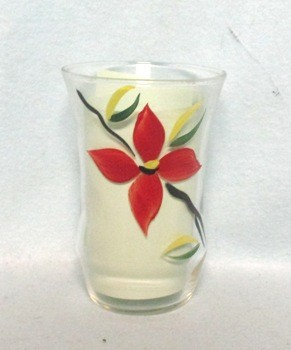 "Gay Fad Red Poinsettia 3"" Bell Shaped Juice Glass - Product Image"