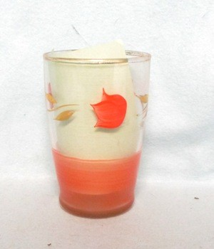 "Gay Fad Red Tulip 3 3/4"" Juice Glass - Product Image"