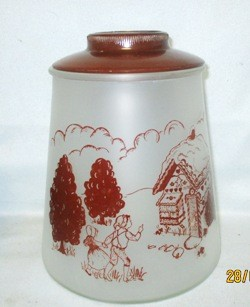 Gay Fad/Bartlett Collins Frosted w Brown Hansel & Gretel Cookie Jar - Product Image
