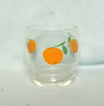 "Gay Fad/Bartlette Collins Roly Poly Orange 2 3/4"" Juice Glass - Product Image"