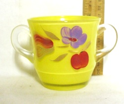 Gay Fad/Bartlette Collins Yellow w Pear,Apple & Lavender Flowered Sugar Bowl - Product Image