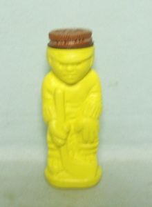 Green Plastic Girl Sugar & Cinnamon Shaker - Product Image