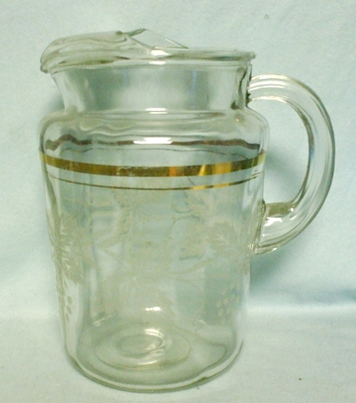 Hazel Atlas Americana Transportation Pitcher w Ice Lip - Product Image