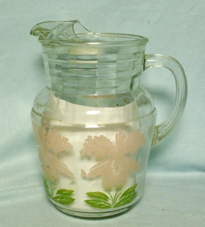 Hazel Atlas Pink Orchid Pitcher w Ice Lip - Product Image