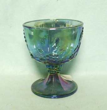 Indiana Glass Harvest Pattern Blue Carnival Sugar - Product Image