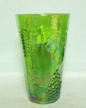 Indiana Glass Harvest Pattern Lime Green Carnival Iced Tea Tumbler - Product Image