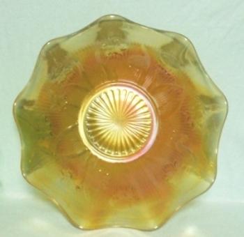 """Iris & Herringbone Iridescent 11 1/2"""" Ruffled Fruit Bowl - Product Image"""