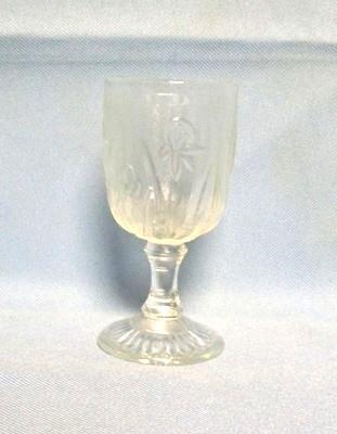 "Iris & Herringbone Clear 4 1/2""  3oz. Wine Goblet. - Product Image"
