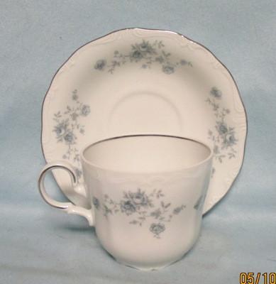 John Haviland Blue Garland Coffee Cup & Saucer Set - Product Image