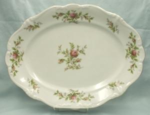 John Haviland Moss Rose Oval Serving Platter - Product Image