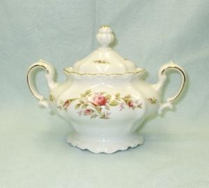 John Haviland Moss Rose Sugar Bowl & Lid - Product Image