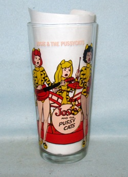 Josie & The Pussy Cats Rare 1977 Warner Bros.Pepsi Collector Glass - Product Image