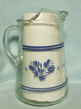 Libbey Pfaltzgraff Yorktowne Pattern Water Pitcher w Ice Lip - Product Image