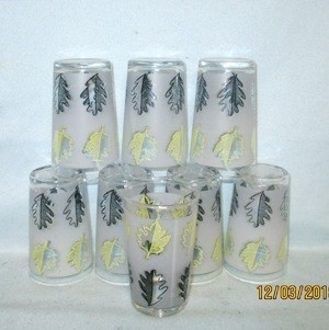 "Libbey Yellow and Black Oak Leaves 3 1/2"" Tumbler - Product Image"