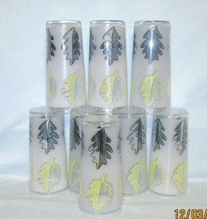 "Libbey Yellow and Black Oak Leaves 5 1/2"" Tumbler - Product Image"
