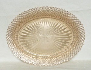 "Miss America Pink 11 1/4"" Oval Platter - Product Image"