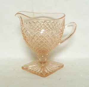 Miss America Pink Creamer,Footed - Product Image