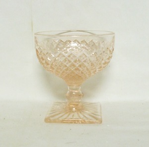 Miss America Pink Sherbert Dish - Product Image