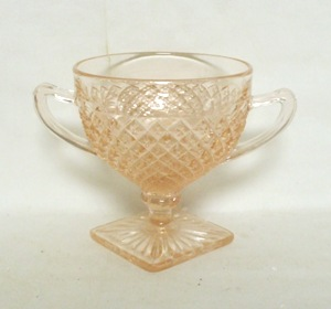 Miss America Pink Sugar Bowl,Footed - Product Image