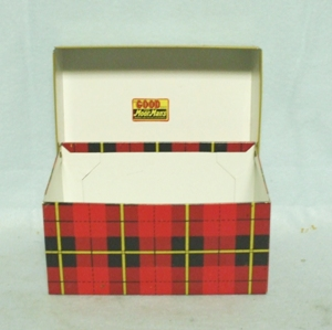 MoorMan's Feed Advertizing Red Plaid Recipes Box - Product Image