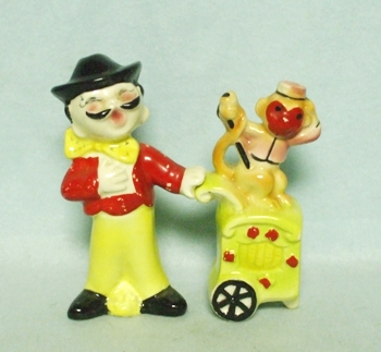 Organ Grinder and Monkey Salt & Pepper Set - Product Image