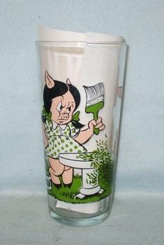 Porky & Petunia 1973 Warner Bros.Pepsi Collector Glass - Product Image