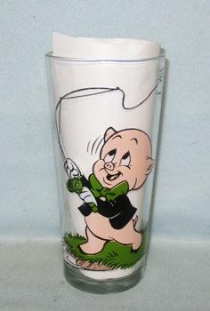 Porky & Taz 1976 Warner Bros.Pepsi Collector Glass - Product Image