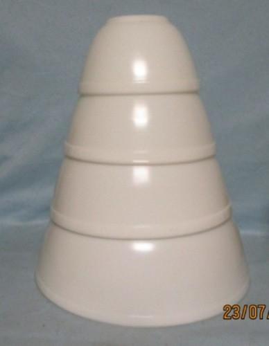 Pyrex Rare Opal White 4 Pc. Mixing Bowl Set - Product Image