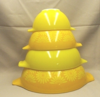 Pyrex Sunflower Cinderella 4 Pc. Mixing Bowl Set - Product Image