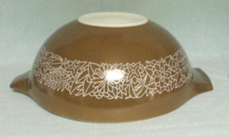 "Pyrex Woodland Dark Brown Cinderella 10 1/2"" Mixing Bowl - Product Image"