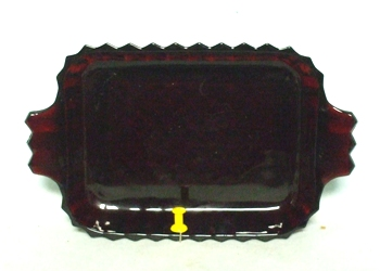 "Royal Ruby #A560 7 3/8"" Rectangular Relish Dish - Product Image"