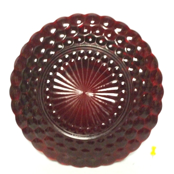 "Royal Ruby Bubble #R-1641 9 1/4"" Round Dinner Plate - Product Image"