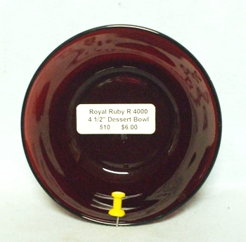 "Royal Ruby R 4000 Round 4 1/2""Dessert Bowl - Product Image"