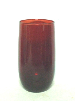 "Royal Ruby Roly Poly  5"" tall Beverage/Iced TeaTumbler - Product Image"