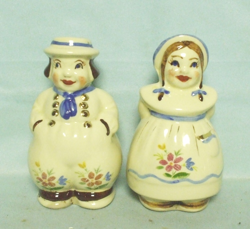 Shawnee Dutch Boy n Girl Salt & Pepper w Glod Trim - Product Image