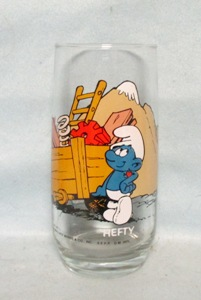 Smurf Hefty 1983 Collector Glass - Product Image