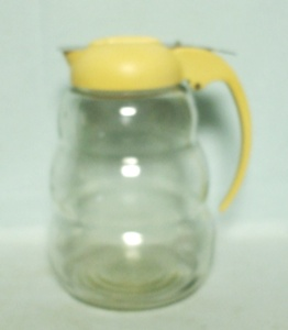 Unusual Large Beehive Syrup Pitcher - Product Image