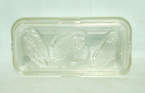 Vintage Clear Ribbed Large Refrigerator Dish w Lid - Product Image