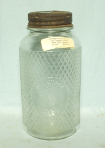 Vintage Old Judge Coffee Product Jar w Owl - Product Image